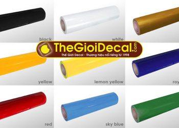 Bảng giá decal ép nhiệt màu thường lên áo thun, vải