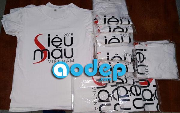 AoDep.com (Một dịch vụ của Thế Giới Decal) in áo thun cho siêu mẫu 2015