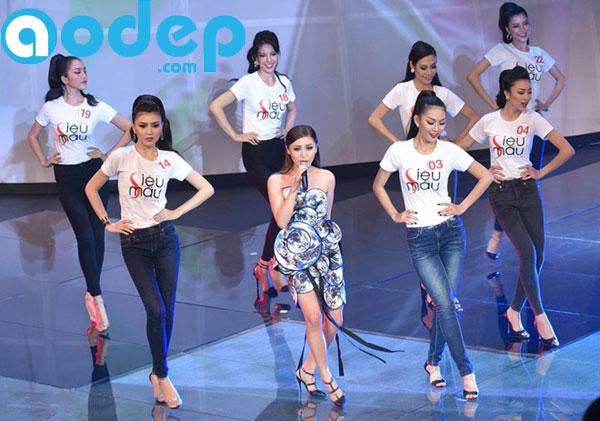 Các thí sinh siêu mẫu 2015 mặc áo thun do AoDep.com (Thế Giới Decal) in