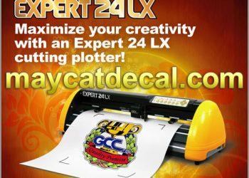 Máy Decal GCC Expert 24 LX cắt bế tem nhãn