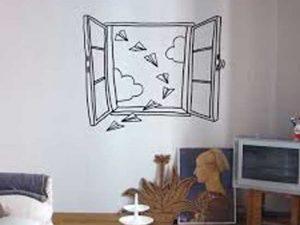 Một số ý tưởng dán decal trang trí tường hiệu quả