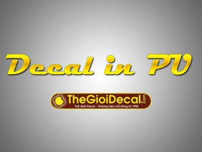 Bảng giá decal in logo, hình ảnh ép nhiệt lên áo, vải tối, sáng màu