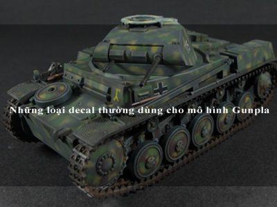 Những loại decal thường dùng cho mô hình Gunpla