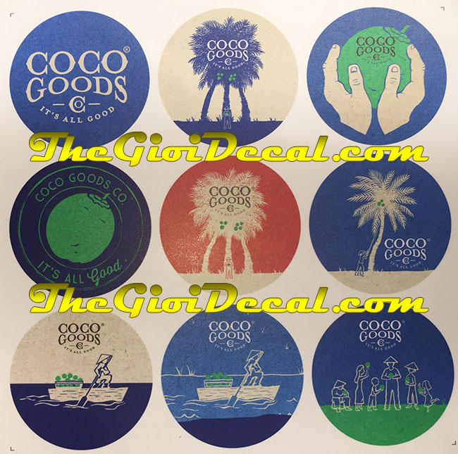 In logo nam châm dẻo dán tủ lạnh thương hiệu Coco Goods