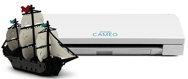 Đây là một ứng dụng của máy mini A3 Cameo 3 - Cắt một con thuyền buồm