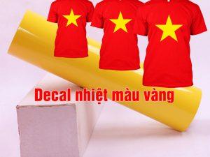 Bảng giá decal ép nhiệt áo thun màu vàng