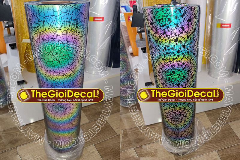 Decal nhiệt phản quang 7 màu mỹ thuật