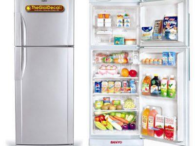 Decal nam châm dẻo dán tủ lạnh, máy giặt