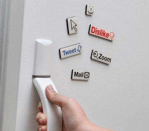 Trang trí tủ lạnh bằng decal nam châm dẻo