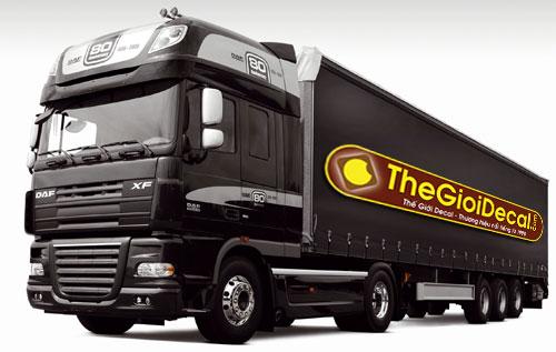 Decal nam châm dẻo dán xe tải, xe khách, xe container