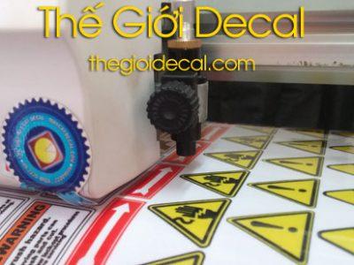 In decal nhựa tem nhãn sản phẩm, mỹ phẩm
